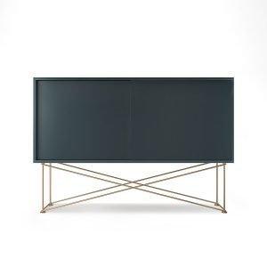 Decotique Vogue Sideboard Senkki 136h Harmaa / 2g / Messinki