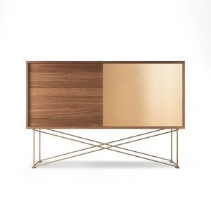 Decotique Vogue Sideboard Senkki 136h Saksanpähkinä / 1w1b / Messink