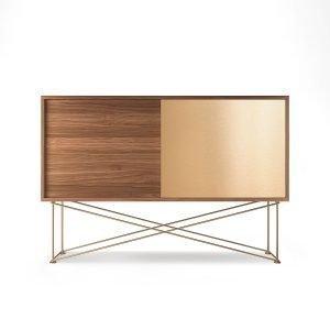 Decotique Vogue Sideboard Senkki 136h Saksanpähkinä / 1w1b / Messink