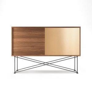 Decotique Vogue Sideboard Senkki 136h Saksanpähkinä / 1w1b / Musta