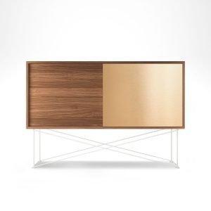 Decotique Vogue Sideboard Senkki 136h Saksanpähkinä / 1w1b / Valkoinen