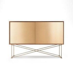 Decotique Vogue Sideboard Senkki 136h Saksanpähkinä / 2b / Messinki