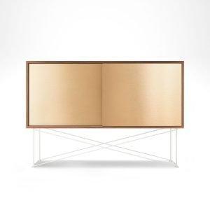 Decotique Vogue Sideboard Senkki 136h Saksanpähkinä / 2b / Valkoinen