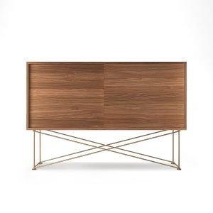 Decotique Vogue Sideboard Senkki 136h Saksanpähkinä / 2w / Messinki