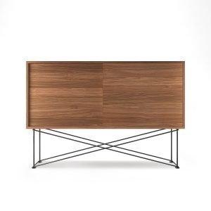 Decotique Vogue Sideboard Senkki 136h Saksanpähkinä / 2w / Musta