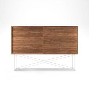 Decotique Vogue Sideboard Senkki 136h Saksanpähkinä / 2w / Valkoinen