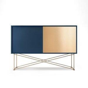 Decotique Vogue Sideboard Senkki 136h Tummansininen / 1db1b / Messinki