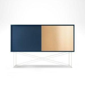 Decotique Vogue Sideboard Senkki 136h Tummansininen / 1db1b / Valkoinen