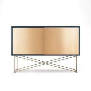 Decotique Vogue Sideboard Senkki 136h Tummansininen / 2b / Messinki