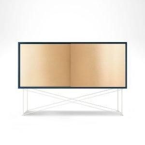Decotique Vogue Sideboard Senkki 136h Tummansininen / 2b / Valkoinen