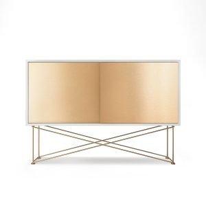 Decotique Vogue Sideboard Senkki 136h Valkoinen / 2b / Messinki