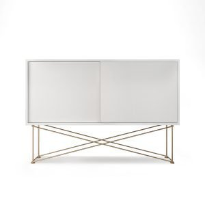 Decotique Vogue Sideboard Senkki 136h Valkoinen / 2w / Messinki