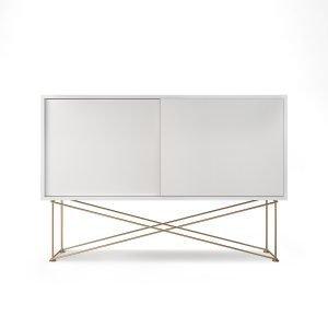 Decotique Vogue Sideboard Senkki 136h Valkoinen / 2w / Messinki