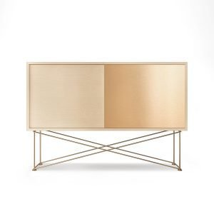 Decotique Vogue Sideboard Senkki 136h Valkoinen Tammi / 1wo1b / Messin