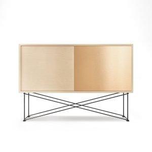 Decotique Vogue Sideboard Senkki 136h Valkoinen Tammi / 1wo1b / Musta