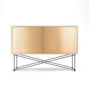 Decotique Vogue Sideboard Senkki 136h Valkoinen Tammi / 2b / Musta