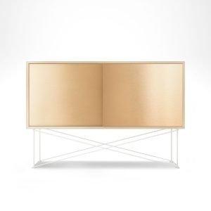 Decotique Vogue Sideboard Senkki 136h Valkoinen Tammi / 2b / Valkoinen