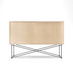 Decotique Vogue Sideboard Senkki 136h Valkoinen Tammi / 2wo / Musta