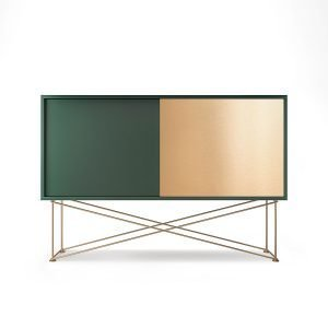 Decotique Vogue Sideboard Senkki 136h Vihreä / 1g1b / Messinki