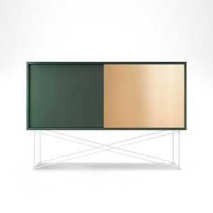 Decotique Vogue Sideboard Senkki 136h Vihreä / 1g1b / Valkoinen