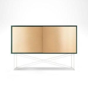 Decotique Vogue Sideboard Senkki 136h Vihreä / 2b / Valkoinen