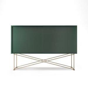 Decotique Vogue Sideboard Senkki 136h Vihreä / 2g / Messinki