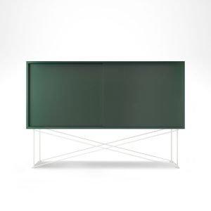 Decotique Vogue Sideboard Senkki 136h Vihreä / 2g / Valkoinen