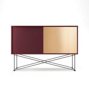 Decotique Vogue Sideboard Senkki 136h Viininpunainen / 1wr1b / Musta