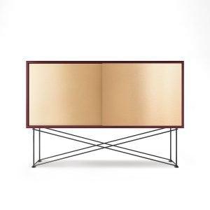 Decotique Vogue Sideboard Senkki 136h Viininpunainen / 2b / Musta