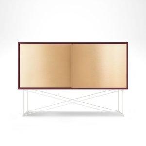 Decotique Vogue Sideboard Senkki 136h Viininpunainen / 2b / Valkoinen