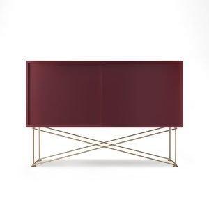 Decotique Vogue Sideboard Senkki 136h Viininpunainen / 2wr / Messink