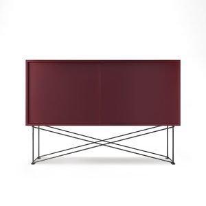 Decotique Vogue Sideboard Senkki 136h Viininpunainen / 2wr / Musta