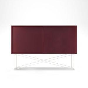 Decotique Vogue Sideboard Senkki 136h Viininpunainen / 2wr / Valkoinen
