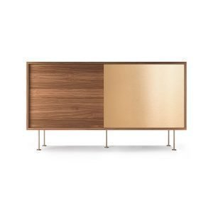 Decotique Vogue Sideboard Senkki 136l Saksanpähkinä / 1w1b / Messink