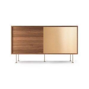 Decotique Vogue Sideboard Senkki 136l Saksanpähkinä / 1w1b / Messink