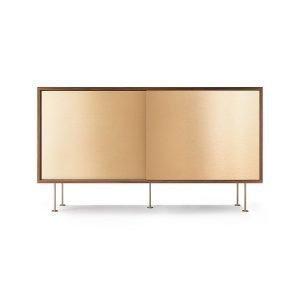 Decotique Vogue Sideboard Senkki 136l Saksanpähkinä / 2b / Messinki