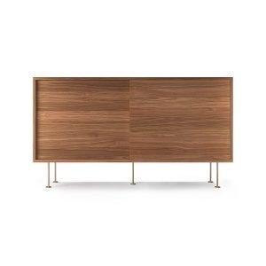 Decotique Vogue Sideboard Senkki 136l Saksanpähkinä / 2w / Messinki