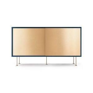 Decotique Vogue Sideboard Senkki 136l Tummansininen / 2b / Messinki