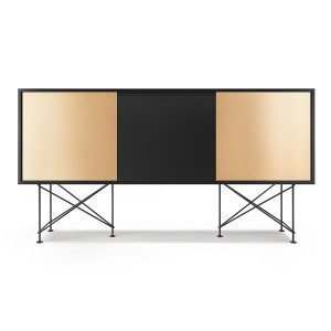 Decotique Vogue Sideboard Senkki 180h Antracit / 1a2b / Musta