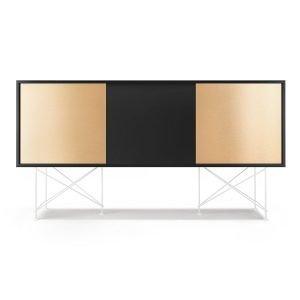 Decotique Vogue Sideboard Senkki 180h Antracit / 1a2b / Valkoinen