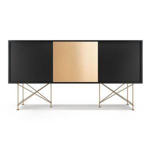 Decotique Vogue Sideboard Senkki 180h Antracit / 2a1b / Messinki