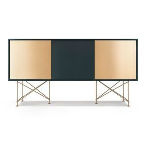 Decotique Vogue Sideboard Senkki 180h Harmaa / 1g2b / Messinki