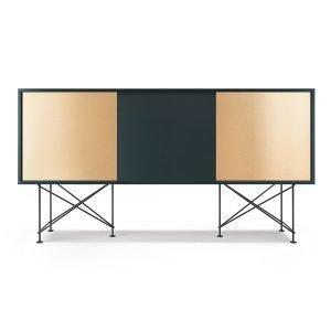 Decotique Vogue Sideboard Senkki 180h Harmaa / 1g2b / Musta