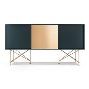 Decotique Vogue Sideboard Senkki 180h Harmaa / 2g1b / Messinki