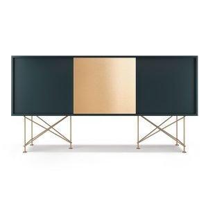 Decotique Vogue Sideboard Senkki 180h Harmaa / 2g1b / Messinki