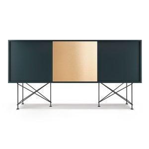 Decotique Vogue Sideboard Senkki 180h Harmaa / 2g1b / Musta