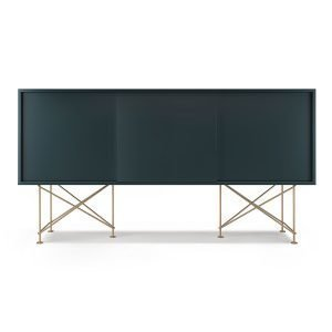 Decotique Vogue Sideboard Senkki 180h Harmaa / 3g / Messinki