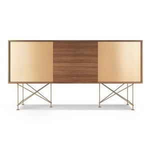 Decotique Vogue Sideboard Senkki 180h Saksanpähkinä / 1w2b / Messink