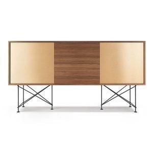 Decotique Vogue Sideboard Senkki 180h Saksanpähkinä / 1w2b / Musta