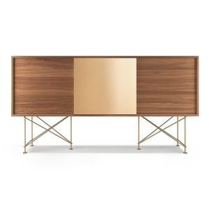 Decotique Vogue Sideboard Senkki 180h Saksanpähkinä / 2w1b / Messink
